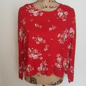 Size 10 divided  h& m peplum blouse